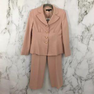 Anne Klein Pant Suit Pink Blazer BC01